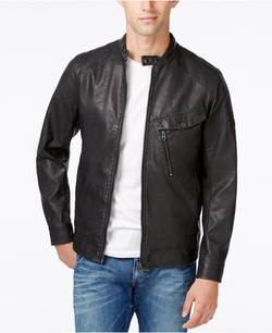 G Star - Faux Leather Bomber Jacket