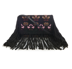 Isabel Marant - Shiloh Fringed Embroidered Suede Clutch Bag