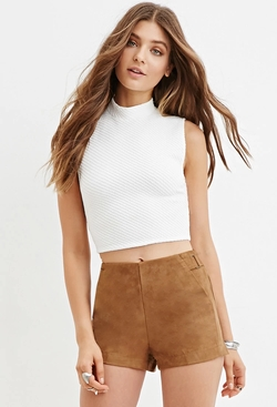 Forever21 - Matelasse Crop Top