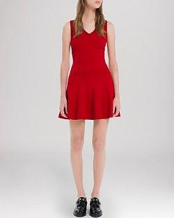 Sandro  - Rone V-Neck Dress