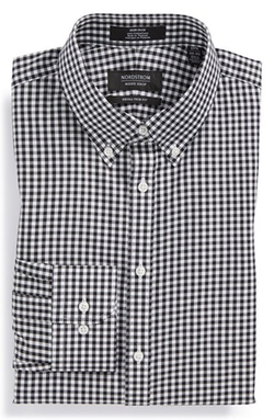 Nordstrom - Extra Trim Fit Non-Iron Check Dress Shirt