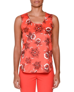 Piazza Sempione - Sleeveless Floral-Print Blouse