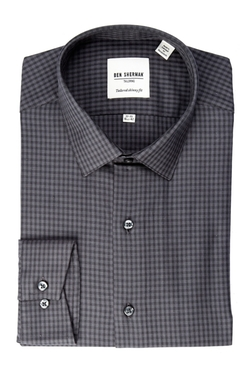 Ben Sherman  - Soho Spread Check Long Sleeve Slim Fit Shirt