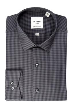 Ben Sherman  - Soho Spread Check Long Sleeve Slim Fit Shirt