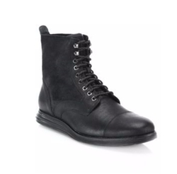 Cole Haan - Lunagrand Lace-Up Leather & Suede Ankle Boots