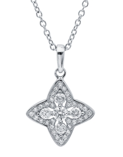 Crislu - Halo Star Pendant Necklace