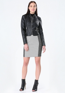 Bebe - Seamed Faux Leather Jacket