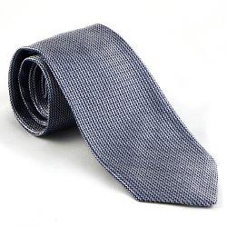 Anto Beverly Hills - Navy Woven Zig-Zag Tie