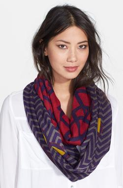 Halogen  - Lattice Dot Print Infinity Scarf