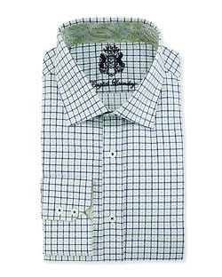 English Laundry  - Two-Tone Check Plaid Dress Shirt