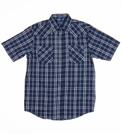 Pendleton  - Mens Short Sleeve Frontier Plaid Western Shirt