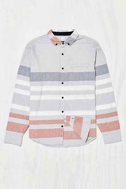Our Caste - Tiny Stripe Woven Button-Down Shirt
