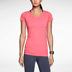 Nike  - Dri-Fit Knit Short Sleeve Running Shirt