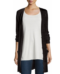 Eileen Fisher - Long Sheer Hemp Cardigan