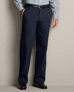 Eddie Bauer - Flat-Front Performance Dress Khaki Pants