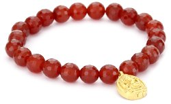 Satya Jewelry - Classics Ganesha Carnelian Protection Stretch Bracelet