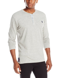 U.S. Polo Assn. - Long-Sleeve Slub Henley Shirt