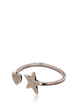 Saint Laurent - Star & Heart Silver Ring