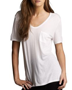 T by Alexander Wang  - Jersey Pocket Tee