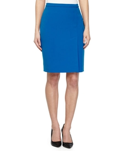 Halston Heritage  - Double Faced Pencil Skirt