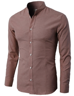 H2H - Mandarin Collar Oxford Shirt