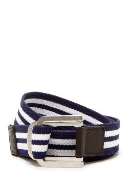 Parke & Ronen -  Stripe D Ring Belt