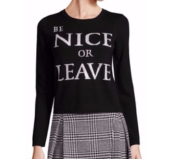 Alice + Olivia  - Be Nice Or Leave Graphic Sweater