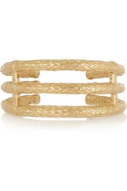 Aurélie Bidermann - Lafayette Gold-Plated Cuff Bracelet