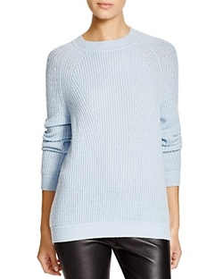Vince  - Directional Rib Wool-Cashmere Sweater