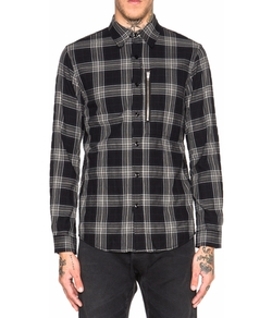 R13 - Zip Plaid Shirt