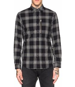 R 13 - Zip Plaid Shirt