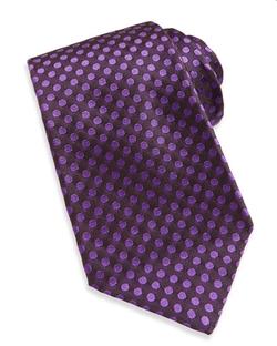 Kiton  - Woven Dot Silk Tie
