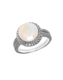 Lord & Taylor - Freshwater Pearl & Sterling Silver Ring