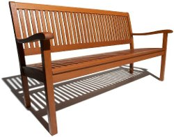 Strathwood  - Basics All-Weather Hardwood 3-Seater Bench