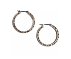Lucky Brand - Small Round Silver-Tone Hoop Earrings