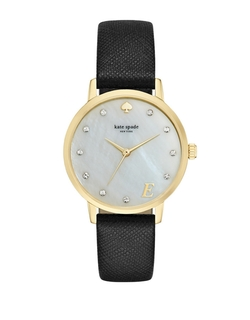 Kate Spade New York - Metro Monogram Goldtone Watch