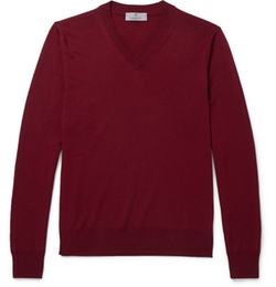 Canali   - V-Neck Wool Sweater