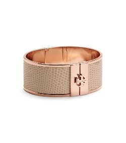Tory Burch - Skinny Leather Inlay Bracelet