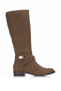 Wallis Fashion - Brown Flat Boots
