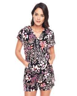 Juicy Couture - Ever After Floral Hood Tunic Top