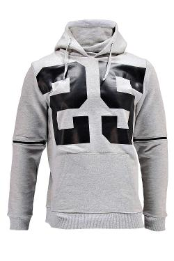 Boohoo - Funnel Neck Zip Sleeve Hoody with PU Print