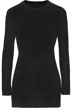 Maje - Ribbed Wool-Blend Top