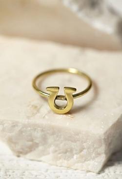 Forever 21 - Sunahara Horseshoe Lucky Charm Ring