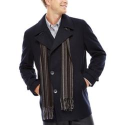 Claiborne - Wool-Blend Pea Coat