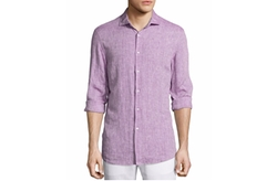 Michael Kors  - Long-Sleeve Linen Shirt