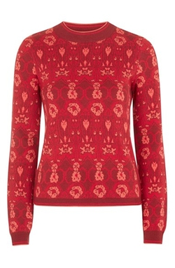 Topshop - Rose Print Sweater