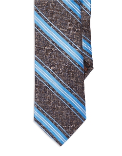 Lord & Taylor - Black Brown 1826 Striped Tie