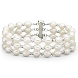 JCPenney - Freshwater Pearl 3 Row Bracelet