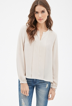 Forever 21 - Layered-Panel Chiffon Blouse