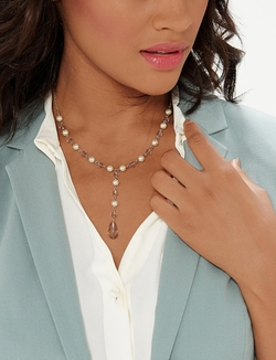 The Limited - Faux Pearl Y-Necklace